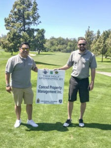 giving back conrad property management inc. sponsor hole universal studios hollywood golf course