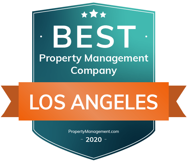 Best Property Management in Los Angeles 2020 badge